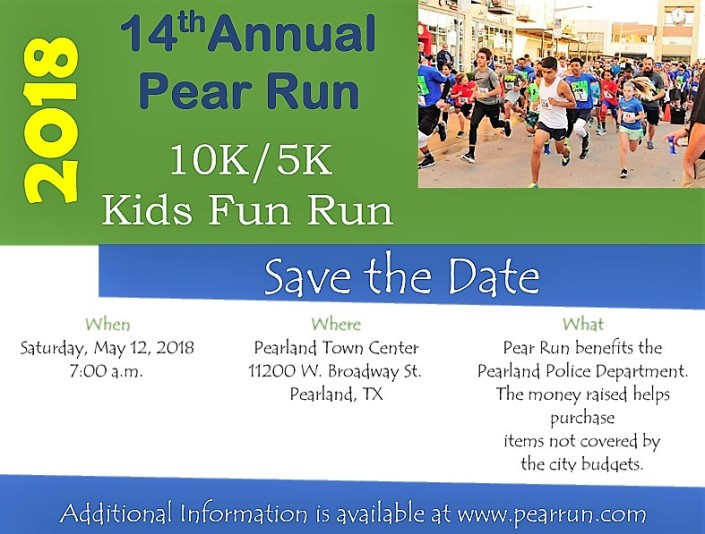 Save the Date 2018 Pear Run